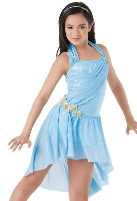 Dance Costume Large Child Blue Lyrical Contemporary Solo Competition Pageant