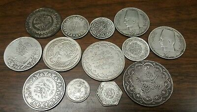 OLD 1800s SILVER EGYPT & TURKEY PIASTRE COLLECTION****