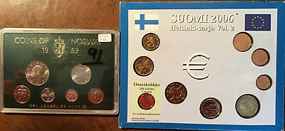 Norway & Finland Coin Sets