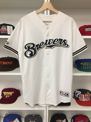 MLB Milwaukee Brewers Ryan Braun Jersey Sz XL White Baseball Majestic