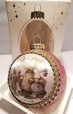 M.J.Hummel Hansel & Gretel Ornament in Box 1998 Glass Ball Ornament H217