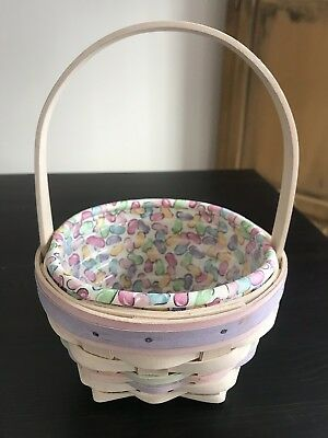Longaberger 2000 Easter Basket with Liner And Protector