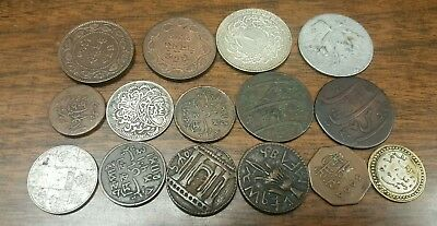 Lot Of Old Unknown Arabic Middle Eastern & Asian Coins****