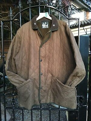 Barbour  D210 Duracotton Polarquilt brown Country Casual zip jacket size XL +