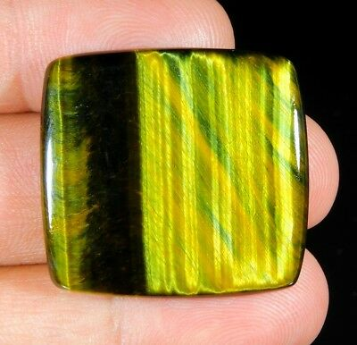 39 Ct Huge Natural Blue Pietersite Fire Tiger Eye Octagon Cabochon Gemstone B282