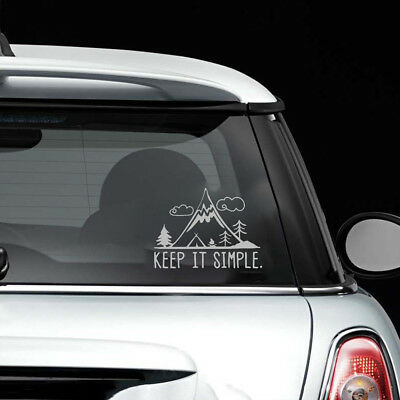 Car Stickers Keep It Simple Mountain Pine Travel Home Wall PET Decal Universal