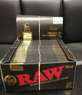 Raw Black With Tips And Brown Connoisseur Papers King Size Slim  Unrefined