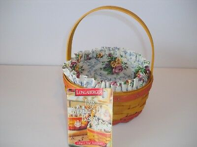 Longaberger 1998 Mother's Day / Rings and Things Basket & Mothers day Liner