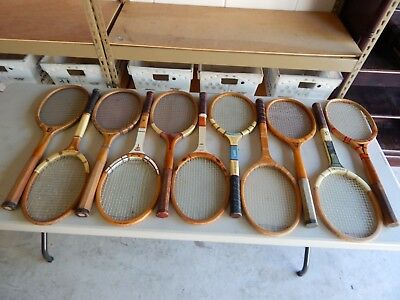 Lot Of 11 Vintage/antique Wood Tennis Rackets - Racquets..different Names & More