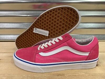 Vans Old Skool Skate Shoes Canvas Suede Carmine Pink White SZ 9 (  VN0A38G1VRL ) b88bcf6de