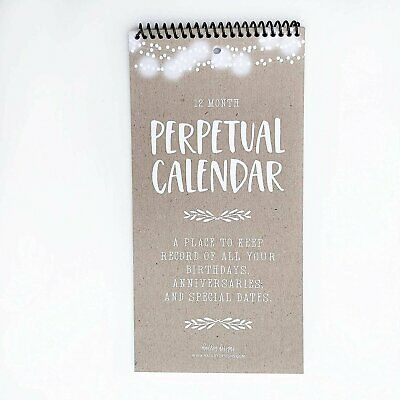 Rustic Perpetual Birthday, Anniversary, Special Event Reminder Calendar Book...