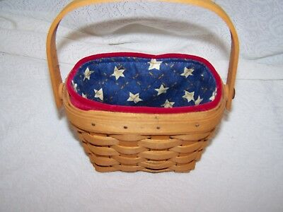 LONGABERGER AA INAUGURAL LINER ONLY for 2001 INAUGURAL BASKET ambrosia 97 HOH