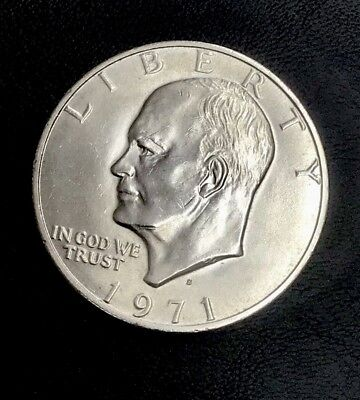 SPECIALLY MINTED - S Mint Mark - 1971-S 40% Eisenhower Silver Dollar - RARE *192