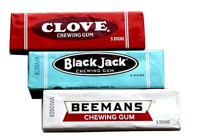 Black Jack, Clove & Beemans Retro Nostalgia Chewing Gum - 3 Packs