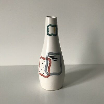 H J Wood PIAZZA WARE Abstract Atomic Style Bud Vase Retro 5.5 Inches 1950s Vtg