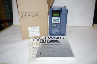 Teco 2Hp Vfd Ac Motor Drive  3 Phase  230Vac   Ip 20  # Eq7-2002-C   New!