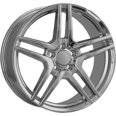 18 Inch Staggered Chrome Mercedes Rims Replica Wheels Hollander 85051 85052  ...