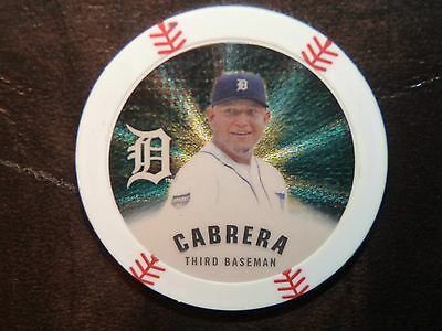 2013 Topps GOLD ! CHIPZ Poker Chip Coin Tigers MIGUEL CABRERA + Base and Silver