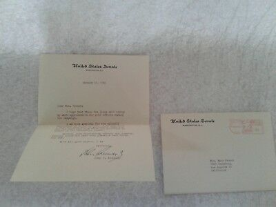 Typed Letter Signed By John F Kennedy Jan 19 1961 Campaign  Appreciation  Thanks