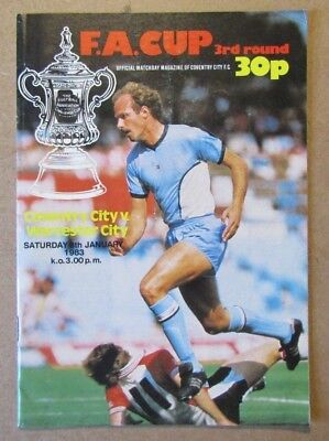 1982/83  Coventry City v Worcester City  FA Cup 3rd Rd Programme  08/01/1983