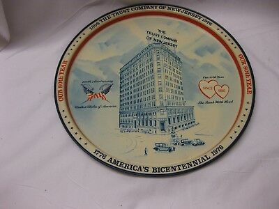 1976 USA Bicentennial-Trust Company of New Jersey Serving Tray Good Condition