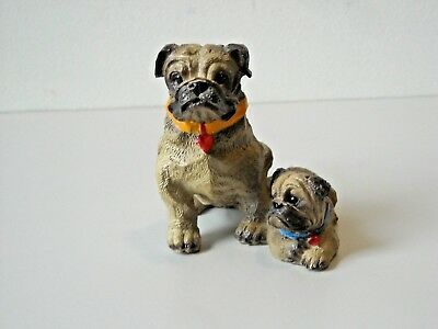 """Bulldog Momma and Baby Figurine by Young China 2 3/4"""" Tall"""