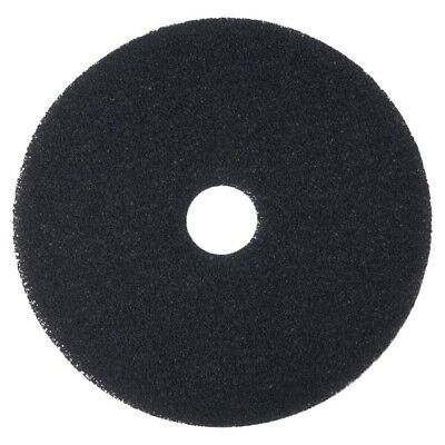 "3M Black Stripper Pads 16"" Floor Care Pad (Case of 5) Clean Scrubbing"