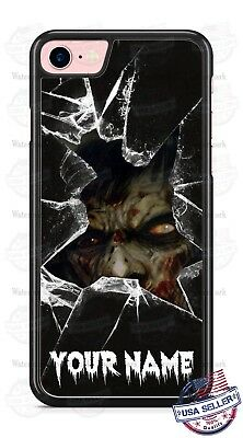 Customize Zombie Breaking Glass Phone Case Cover Fits iPhone Samsung Google etc