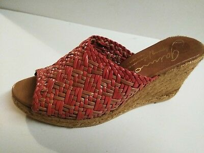 31cc826b725f GAIMO ESPADRILLES SPRING SUMMER WOMEN red tan WEDGE SANDALS SHOES 41 10 EUC