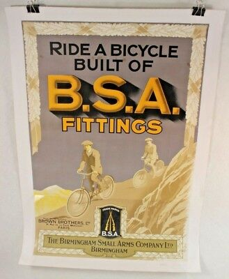 Ride A Bicycle Built Of BSA Fittings Birmingham Small Arms Company Ltd Poster