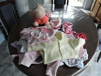 Bulk lot of girls size 0000/000  clothing   and toy hippo