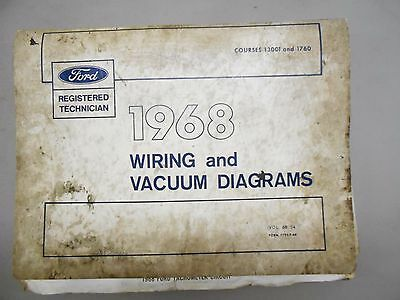 1968 Ford Mustang Comet T Bird Couger Factory Original Wiring Diagram Binder