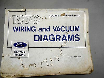 1970 Ford Mustang Comet T Bird Couger Factory Original Wiring Diagram Binder