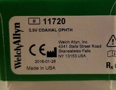 Welch Allyn 3.5V Coaxial Ophthalmoscope #11720 New!  Factory Sealed!