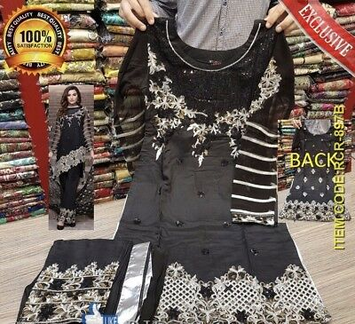 Pakistani Indian Ready Made Embroidered Designer Suit/  Eid Collection