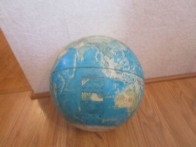 "Vintage Rand McNally 12"" Diameter Raised Relief World Portrait Globe"