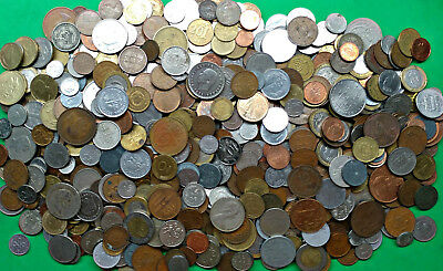 Large Lot 7.6 lbs Mixed World Foreign Coins bulk pounds bag !!
