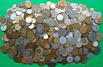 Large Lot 7.1 lbs Mixed World Foreign Coins bulk pounds bag !!
