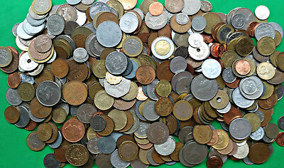 Large Lot 5 lbs Mixed World Foreign Coins bulk pounds bag !!