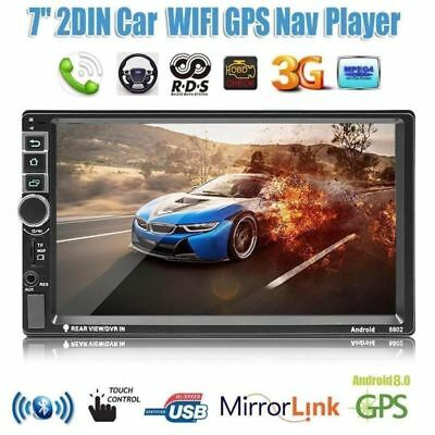"7"" 2DIN Autoradio Android 8.1 MP5 Player BT Touch GPS Navigation Car Player CAM"