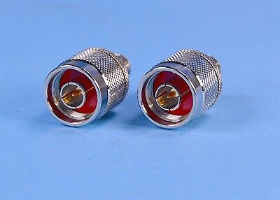 2 (Two) 50-Ohm Wilson N-Type Male to Female Connector Adapters P/N: 971128