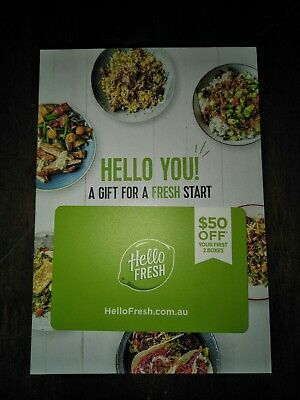 Hello Fresh $50 Voucher / Gift Card Food Recipes