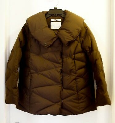 Old Navy Maternity Puffer Coat Jacket Brown M Medium