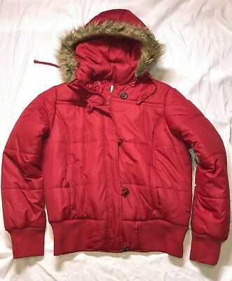 2626ac77cac33 NWT Girls Winter Jacket Coat Hooded No Boundaries Red Size 16/18 XL Zip  Button