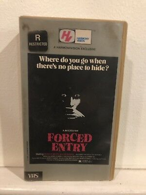 Forced Entry Rare Harmony Vision Horror Vhs Sleaze Classic