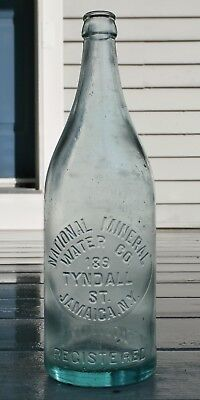 Antique NATIONAL MINERAL WATER CO. Bottle, 189 TYNDALL ST., JAMAICA, N.Y.