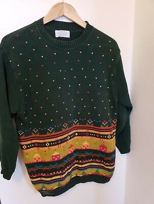 7721a7c8ca3 Vintage 90s United Colors of Benetton House Colorblock Sweater Womens  M Mens S