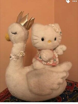 Hello Kitty Angel On Swan 25th Anniversary Limited Edition Plush Doll Japan