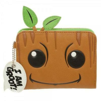 Guardians Of The Galaxy I Am Groot Coin Purse Bag NEW Marvel Cute Twig