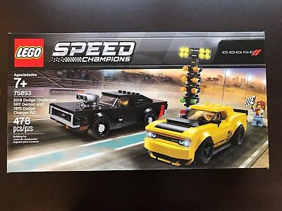LEGO 75893 Speed Champions 2018 Dodge Challenger SRT Demon and 1970 Charger R/T
